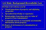 aai rule background brownfields law7