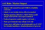 aai rule market impact