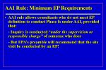 aai rule minimum ep requirements17