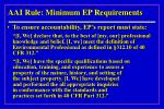 aai rule minimum ep requirements18