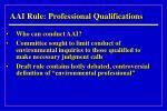 aai rule professional qualifications