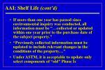 aai shelf life cont d