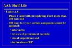 aai shelf life