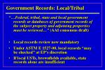 government records local tribal