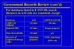 government records review cont d