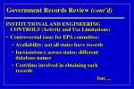 government records review cont d21