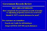 government records review