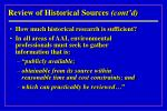 review of historical sources cont d27