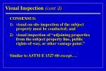 visual inspection cont d