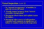 visual inspection cont d34