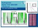 hydropower spaty river q50 q95 q50 q95 6 86 116 more hydropower if q100