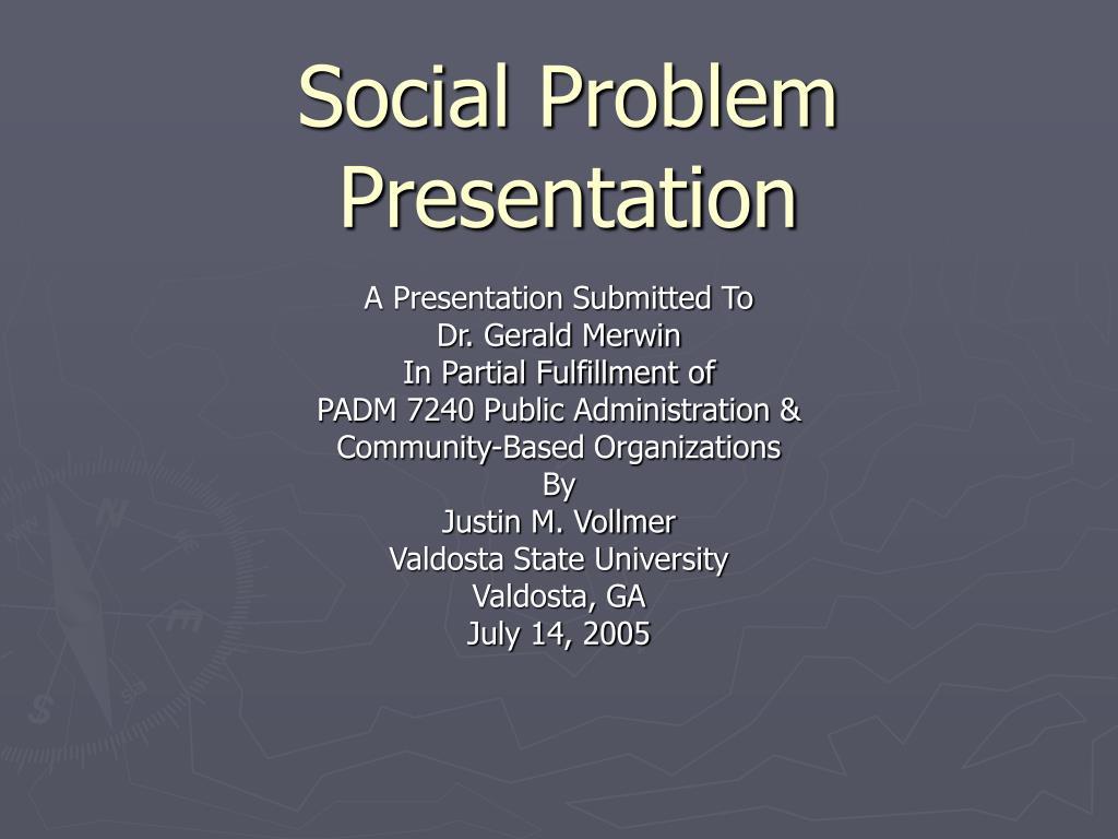 social problem presentation l.
