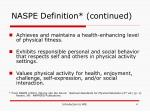 naspe definition continued