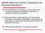 naspe national content standards for physical education