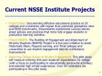 current nsse institute projects
