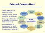 external campus uses