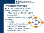 progressive stage