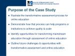 purpose of the case study