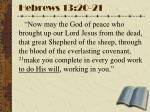 hebrews 13 20 21