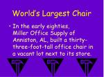 world s largest chair
