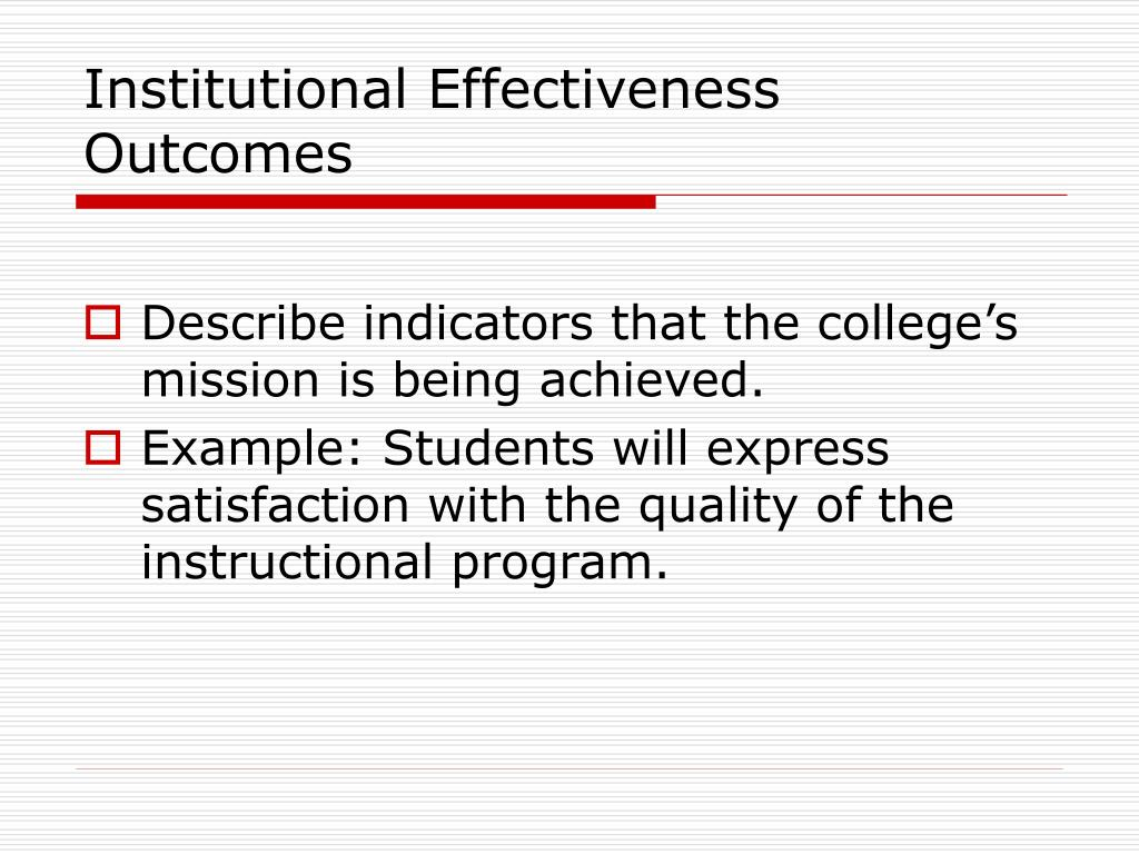 Institutional Effectiveness Outcomes