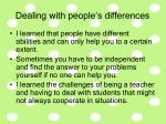 dealing with people s differences
