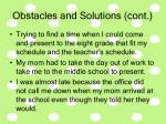 obstacles and solutions cont26