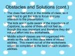 obstacles and solutions cont27