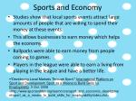 sports and economy