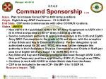3 7 4 3 command sponsorship 1 of 3