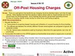 issue 04 10 off post housing charges