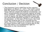 conclusion decision
