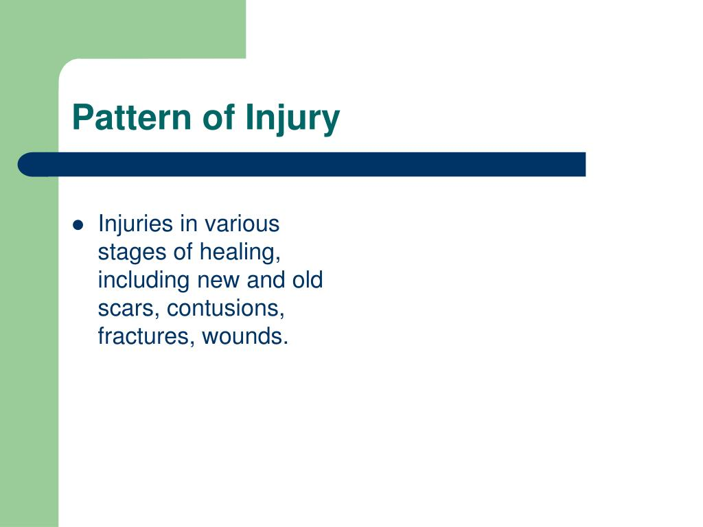 Pattern of Injury