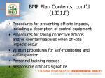 bmp plan contents cont d 1331 f