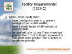facility requirements 1329 c