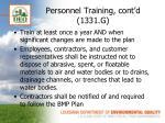 personnel training cont d 1331 g