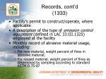 records cont d 1333