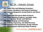 sic 34 industry groups