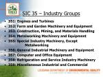 sic 35 industry groups