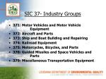 sic 37 industry groups