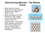 rock forming minerals the silicate group