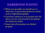 darkroom wastes