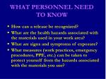 what personnel need to know49