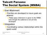 talcott parsons the social system wnba24