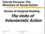 talcott parsons the structure of social action
