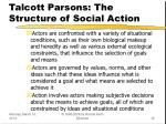 talcott parsons the structure of social action16