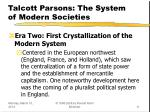 talcott parsons the system of modern societies11
