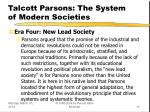 talcott parsons the system of modern societies13