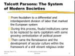 talcott parsons the system of modern societies9