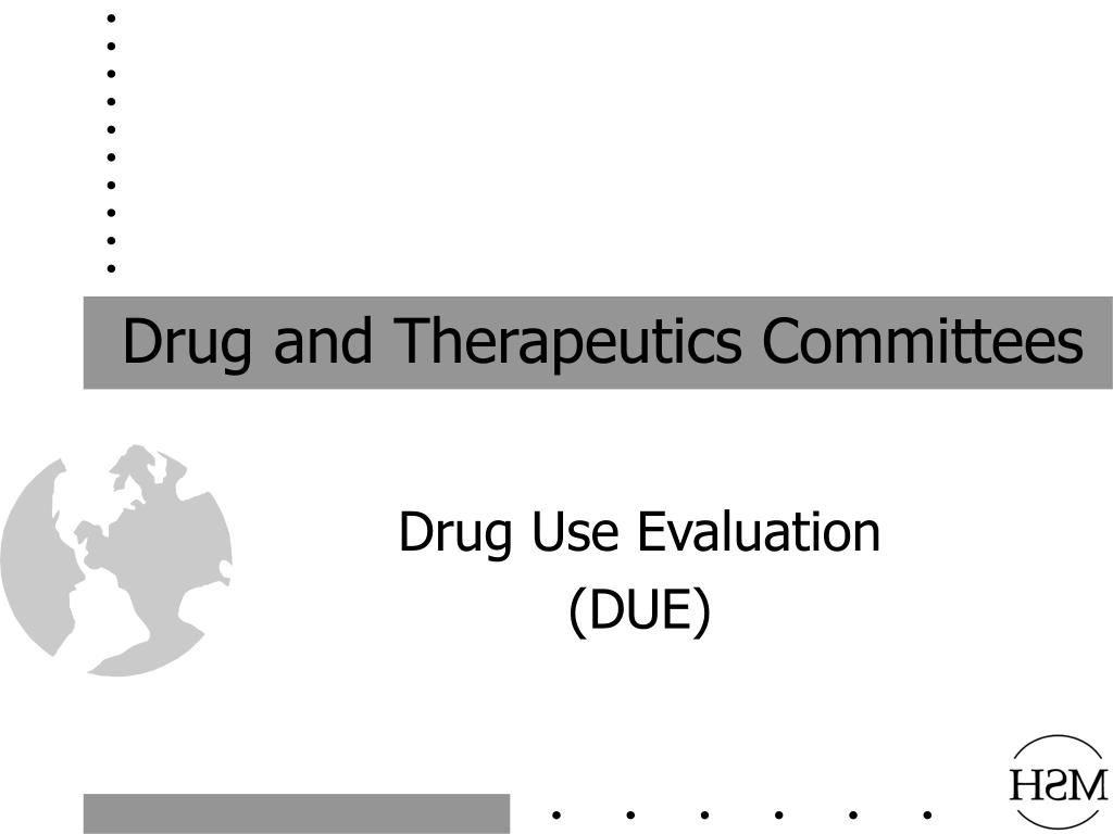 drug and therapeutics committees l.
